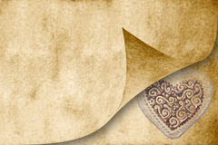 Carte d'invitation de mariage dans le son de sépia Photographie stock libre de droits