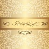 Carte d'invitation de mariage dans le style de luxe de vintage Images libres de droits