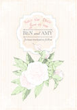 Carte d'invitation de mariage pivoines sur le fond rose grunge Illustration de vecteur Photo libre de droits