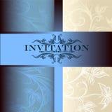 Carte d'invitation de vecteur pour la conception Image stock