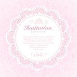 Carte d'invitation de vintage. Photos libres de droits