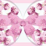 Carte d'invitation de vintage avec des roses d'aquarelle Image libre de droits