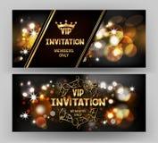 Carte d'invitation de VIP avec le fond de scintillement abstrait Photos stock