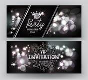 Carte d'invitation de VIP avec le fond de scintillement abstrait Images stock