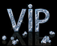 Carte d'invitation du diamant VIP Photo libre de droits