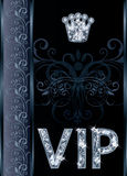 Carte d'invitation du diamant VIP Photos stock