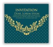 Carte d'invitation et d'annonce de mariage avec l'illustration florale de fond Fond floral fleuri élégant illustration libre de droits