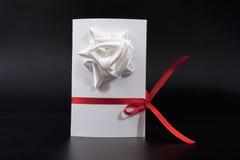Carte d'invitation faite main image tridimensionnelle pour vacances le 8 mars Photographie stock libre de droits