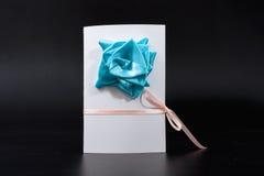 Carte d'invitation faite main image tridimensionnelle pour vacances le 8 mars Photographie stock