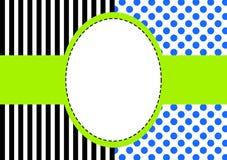 Cadre de points et de rayures de polka illustration libre de droits