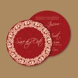 Carte d'invitation ou d'annonce de mariage illustration libre de droits