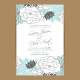 Carte d'invitation ou d'annonce de mariage illustration de vecteur