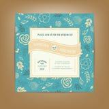 Carte d'invitation ou d'annonce de mariage Perfectionnez également comme carte pour l'anniversaire illustration de vecteur