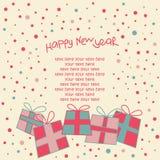 Carte d'an neuf heureux Photos stock