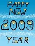Carte d'an neuf heureux illustration libre de droits