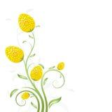 Carte d'Oeuf-Fleurs de Pâques Image libre de droits