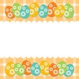 Carte d'oeufs de pâques Images stock