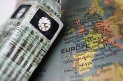 carte d'orientation de l'Angleterre l'Europe photographie stock