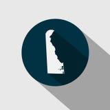 Carte d'U S état Delaware Image stock