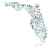 Carte d'un état à un autre d'état de la Floride Photos libres de droits