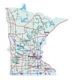 Carte d'un état à un autre d'état du Minnesota Photographie stock libre de droits