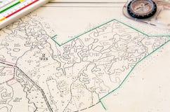 Carte d'une petite terre Images stock