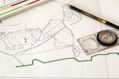 Carte d'une petite terre Image libre de droits