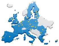 Carte d'Union européenne illustration libre de droits