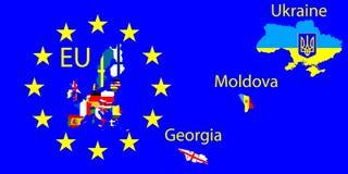 Carte d'Union européenne Photos libres de droits