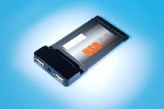Carte d'USB 2.0 PCMCIA pour l'ordinateur portatif Photographie stock