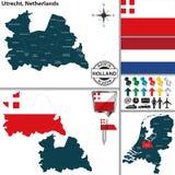 Carte d'Utrecht, Pays-Bas Photos libres de droits
