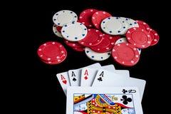 Carte da gioco fotografie stock libere da diritti
