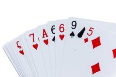 Carte da gioco del cartone per i giochi con le carte Immagini Stock Libere da Diritti