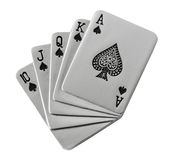 Carte da gioco del metallo Fotografia Stock