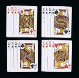 Carte da gioco del poker J Q K A fotografia stock