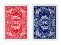 Carte da gioco del poker del lato posteriore isolate Immagini Stock Libere da Diritti