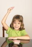 Carte da gioco della bambina Immagini Stock