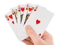Carte da gioco a disposizione Immagine Stock
