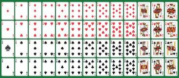 Carte da gioco piene della piattaforma Fotografie Stock Libere da Diritti