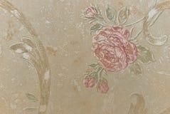 Carte da parati antichissime come priorità bassa dai fiori Immagine Stock Libera da Diritti