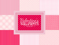 Carte da parati dei biglietti di S. Valentino Fotografia Stock