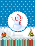Carte décorative de vacances d'hiver Images libres de droits
