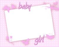Carte de bébé Photographie stock