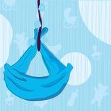 carte de bébé d'annonce illustration de vecteur