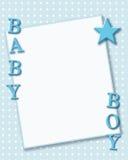 Carte de bébé garçon Images libres de droits