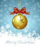 Carte de babiole de Noël Images stock