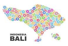 Carte de Bali de mosaïque des articles de dent illustration libre de droits