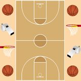 Carte de basket-ball photographie stock libre de droits