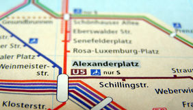 Carte de Berlin U-Bahn Photos stock