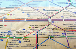 Carte de Berlin U-Bahn Images libres de droits